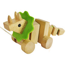 2015 wooden pull animal toys from China (mainland)