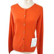 China 100% cashmere women's cardigan with printed pattern back