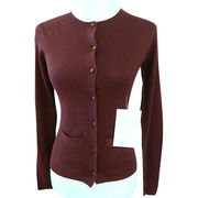 100% Cashmere women cardigan from Inner Mongolia Shandan Cashmere Products Co.Ltd