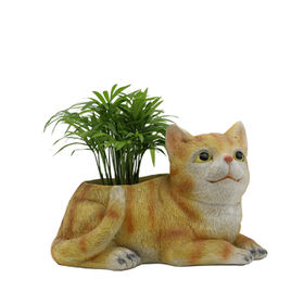 Life-Sized Resin Cat Planter from China (mainland)