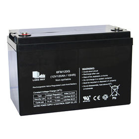 12V120Ah Solar Rechargeable Lead-acid Battery from China (mainland)