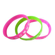 Silicone rubber bracelet from China (mainland)