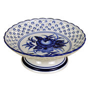 """7.75"""" Blue and White Porcelain Serving Tray from China (mainland)"""