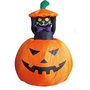 Polyester Halloween inflatable black cat Manufacturer
