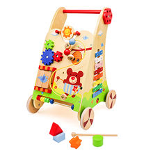 2015 Multiple Functions Funny Interesting Wooden Baby Walker, Unit Size of 33*34*52cm
