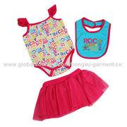 Fashion Short-sleeved baby wear short skirt from China (mainland)
