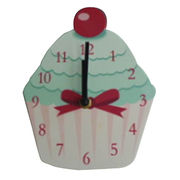 Cup Cake Style Wall Decorative Clock from China (mainland)