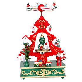 2015 Christmas tree design wooden music box from China (mainland)