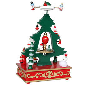 2015 Decor Wooden Christmas Tree Music Boxes from China (mainland)