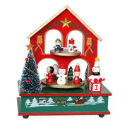 2015 lovely cute house-shaped wooden music box from China (mainland)