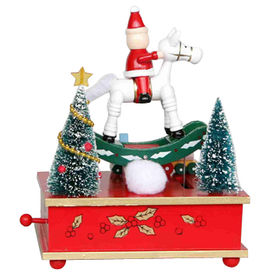 2015 Wooden Christmas Carousel Music Box from China (mainland)
