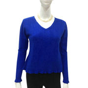 100% Cashmere Women V Neck Pullover from Inner Mongolia Shandan Cashmere Products Co.Ltd