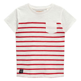 China Boy's Striped Short-sleeved T-shirt