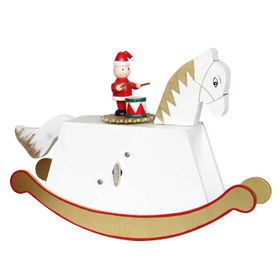 2015 Hand Crank Wooden Carousel Music Boxes Manufacturer