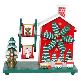 2015 Deluxe Funny Christmas Wooden Music Box