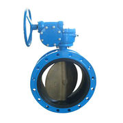 China Double Flange Butterfly Valve