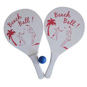 2015 Top Grade Sports Wooden Beach Racket Set from China (mainland)