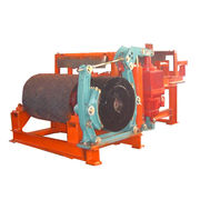 Motorized drum pulley for mining conveyor system