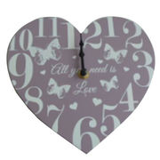 Heart Shaped Wall Decorative Clock from China (mainland)