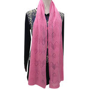 100% Cashmere Scarf with Mesh Pattern from Inner Mongolia Shandan Cashmere Products Co.Ltd