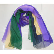 Rainbow Polyester Voile Scarf from China (mainland)
