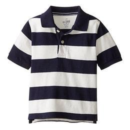 China Short-sleeved striped polo shirt