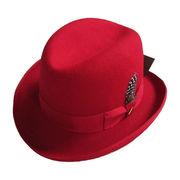 Wholesale British style wool felt fedora hat, British style wool felt fedora hat Wholesalers