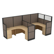 China Mobile workstation for 2 persons, 1650mm high partition panels for private space