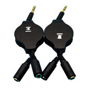Retractable 3.5mm jack audio cable from China (mainland)
