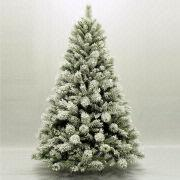 6FT Flocked Christmas Tree with Snowflake