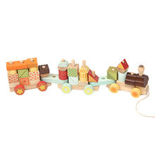 Children's Beech Wooden Pull Blocks Train Toy Manufacturer