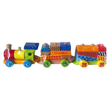 Pull along wooden block train toy from China (mainland)