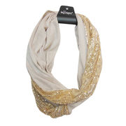 Polyester Jersey Snood with Sequins Elements, OEM Orders are Welcomed