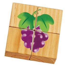 Animal shape 4PCS wooden jigsaw puzzles