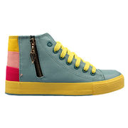 Casual shoes for women, high cut, twice vulcanized, lace up, zipper design,colorful