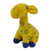 cute soft plush yellow giraffe promotional toys from China (mainland)