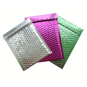 China Colorful Aluminum Foil Metallic Bubble Envelope Bags, Waterproof, 100% Recycled