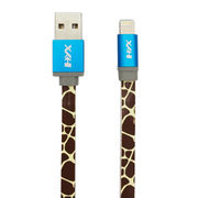 China Flat Printing Lightning 8-pin to USB Cable Sync Charger Cord for iPhone5/5C/5S/6/6 Plus