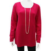 100% Cashmere Women's Crew Neck Pullover from Inner Mongolia Shandan Cashmere Products Co.Ltd
