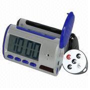 Hong Kong SAR Alarm Hidden Spy Camera Clock with Remote Control and Built-in Pin Hole Lens
