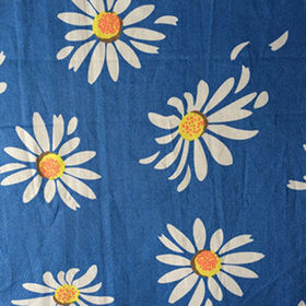 Cotton poplin with printing fabric for garment