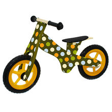 Preschool brightly colored wooden children's balance bicycle, sized 85*39*52cm