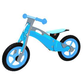 Comfortable safe Christmas gift wooden balance bike for kids, sized 85*39*52cm