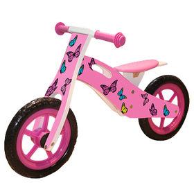 Lovely butterfly children favorites wooden balance bike, sized 85*39*52cm