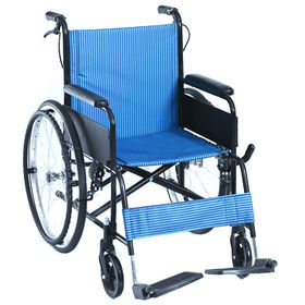 Lightweight Aluminum Wheelchair with Double Steel Crossbar