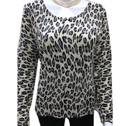 100% Cashmere Women's Pullover with Printing from Inner Mongolia Shandan Cashmere Products Co.Ltd