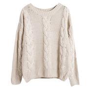 Hong Kong SAR Los jerséis del cuello barco de las mujeres, hechos de algodón y de acrílico, acción están disponibles