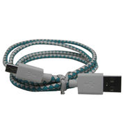 Fabric leather braided cable from China (mainland)