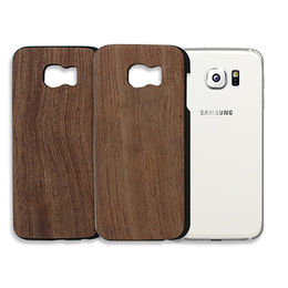 China Hard PC wooden layer phone case for Samsung S6