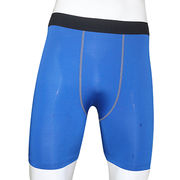 Blue color compression shorts from China (mainland)